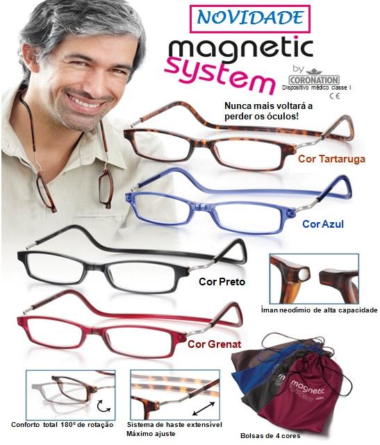 460b26219 O modelo Magnetic System representa a maior novidade neste lançamento de óculos  graduados, novidade essa que consiste no meu mecanismo de íman neodímio de  ...